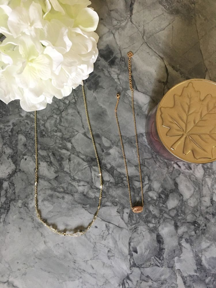 Lattes and all things Lovely - Dainty Necklaces for Fall