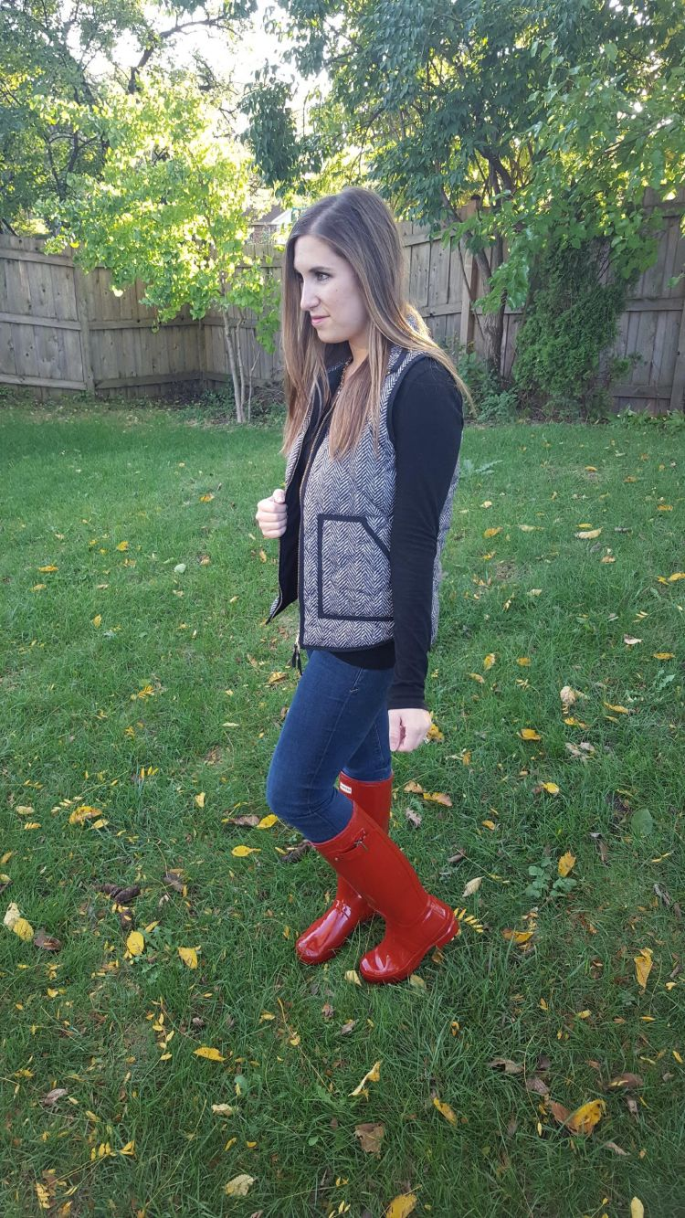 Red Boots and a Herringbone Vest 2