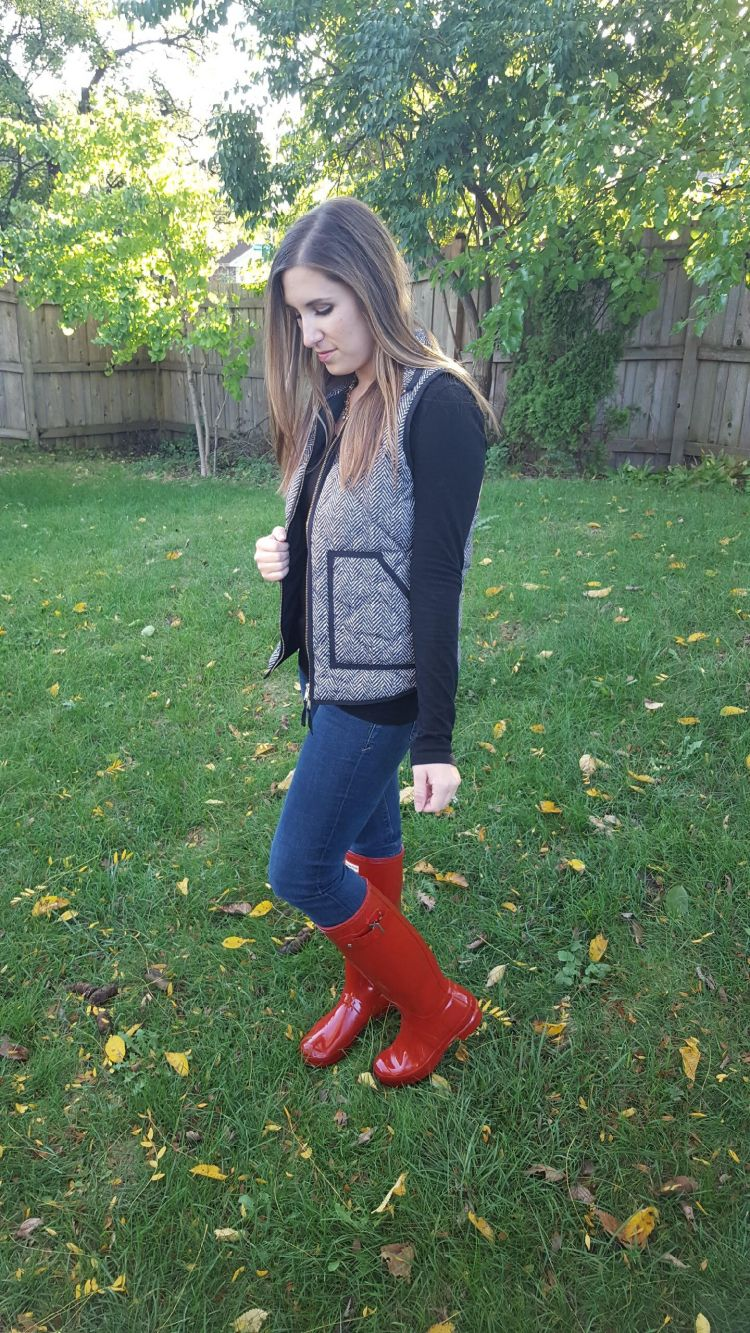 Red Boots and a Herringbone Vest 3
