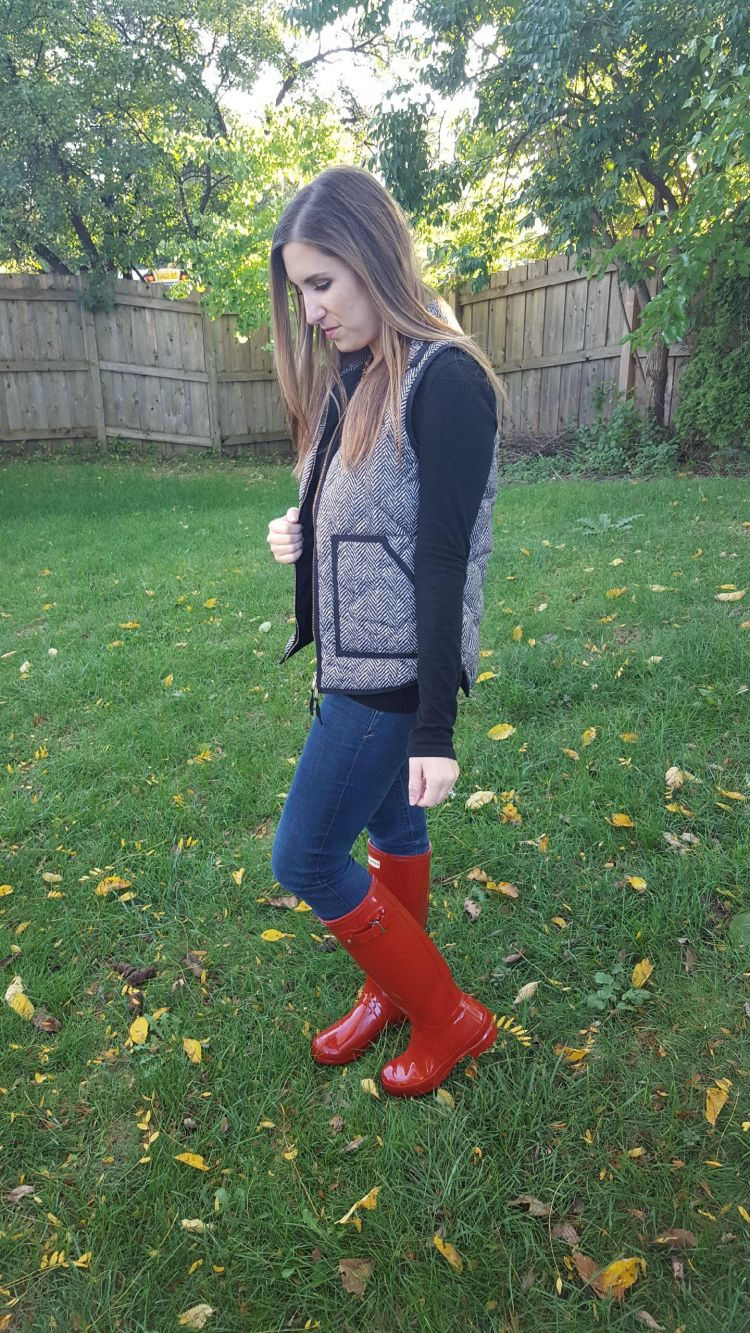 Red Boots and a Herringbone Vest 4