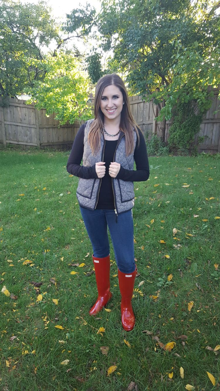 Red Boots and a Herringbone Vest 6