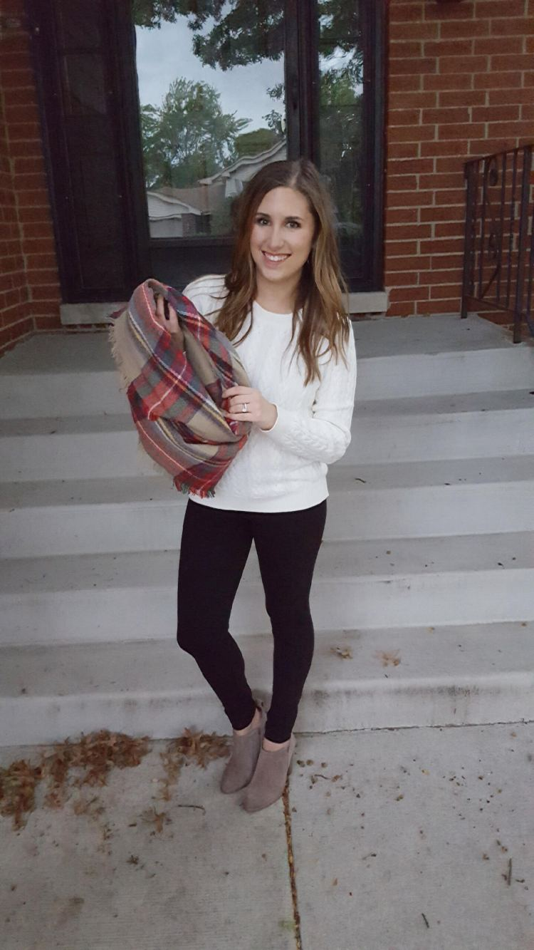 Three Ways to Wear a Blanket Scarf - Lattes and all things Lovely - 1