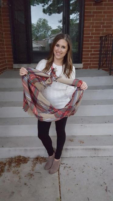 Three Ways to Wear a Blanket Scarf - Lattes and all things Lovely - 2