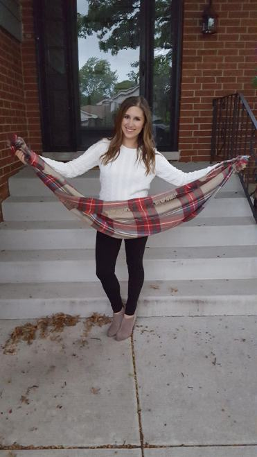 Three Ways to Wear a Blanket Scarf - Lattes and all things Lovely - 3
