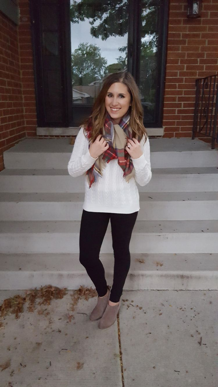 Three Ways to Wear a Blanket Scarf - Lattes and all things Lovely - 4