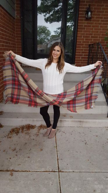 Three Ways to Wear a Blanket Scarf - Lattes and all things Lovely - 6