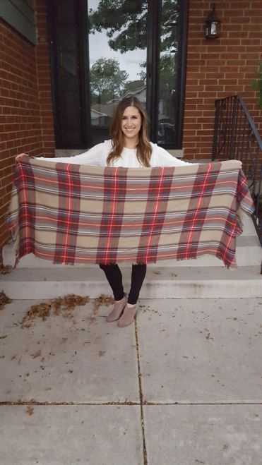 Three Ways to Wear a Blanket Scarf - Lattes and all things Lovely - 7
