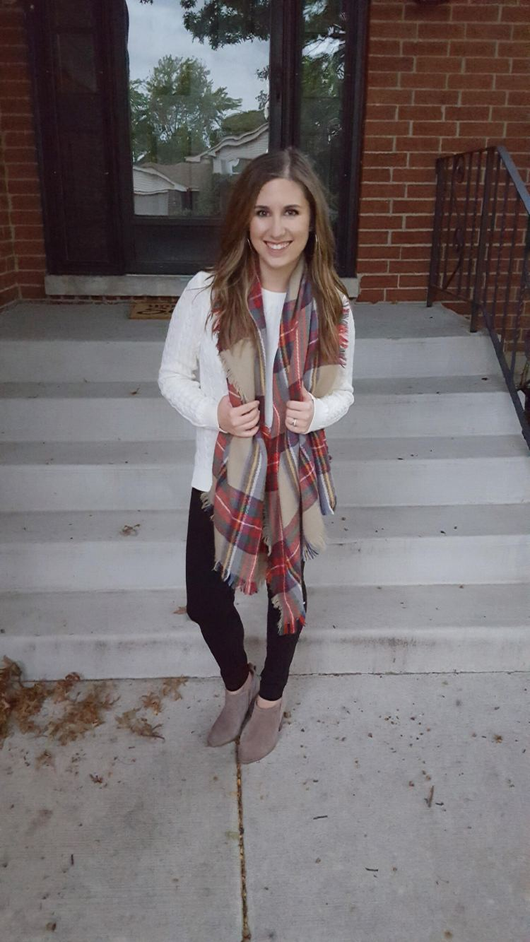 Three Ways to Wear a Blanket Scarf - Lattes and all things Lovely - 8