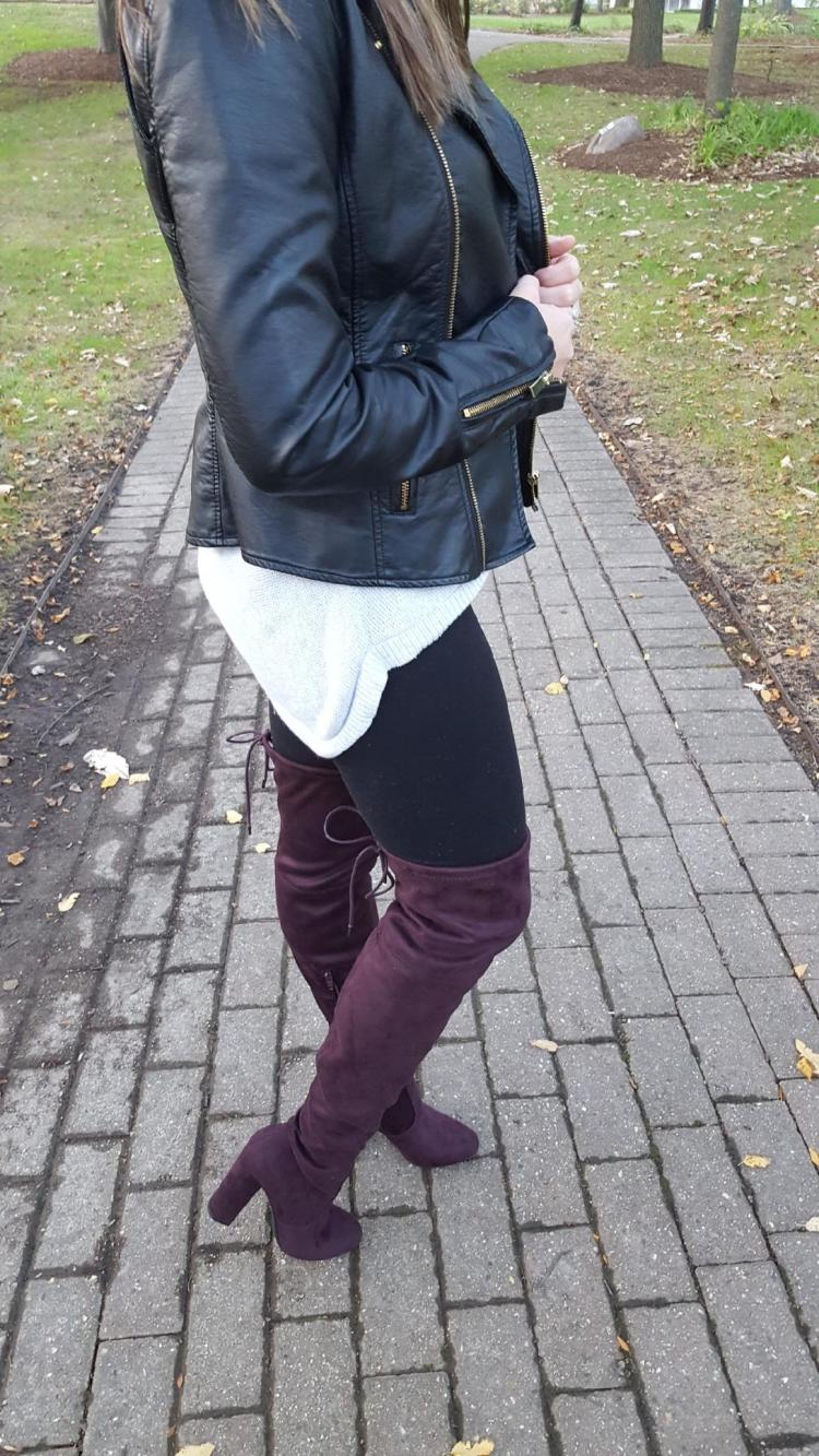 Burgundy Over The Knee Boots 6