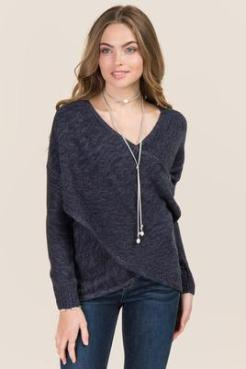 Draped Wrap Pullover