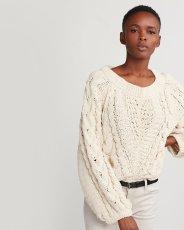 Ivory Chunky Knit Sweater