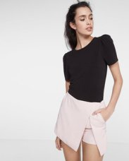 Puffed Short Sleeve Top