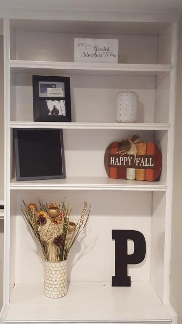 Thanksgiving Built In Shelf
