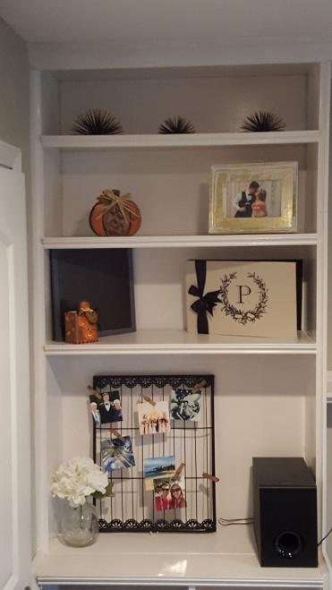 Thanksgiving Built In Shelves